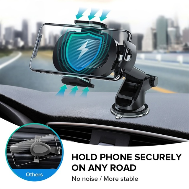 INIU Sucker Car Phone Holder Mobile Phone Holder Stand in Car No Magnetic GPS Mount Support For iPhone 11 Pro Xiaomi Samsung 3