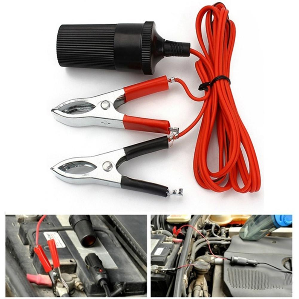12V автомобиль скачок стартер Conncetor аварийного кабель для питания от внешнего источника Батарея зажим|Аккумуляторы для авто|   | АлиЭкспресс