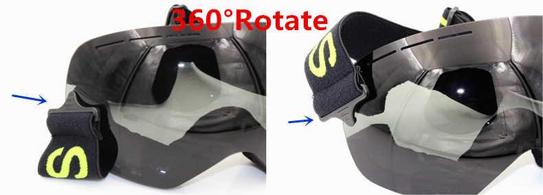 Профессиональные лыжные очки, мужская маска с линзами UV400, незапотевающие очки для сноуборда и лыж для взрослых, светильник зимние очки для снега, Мульти