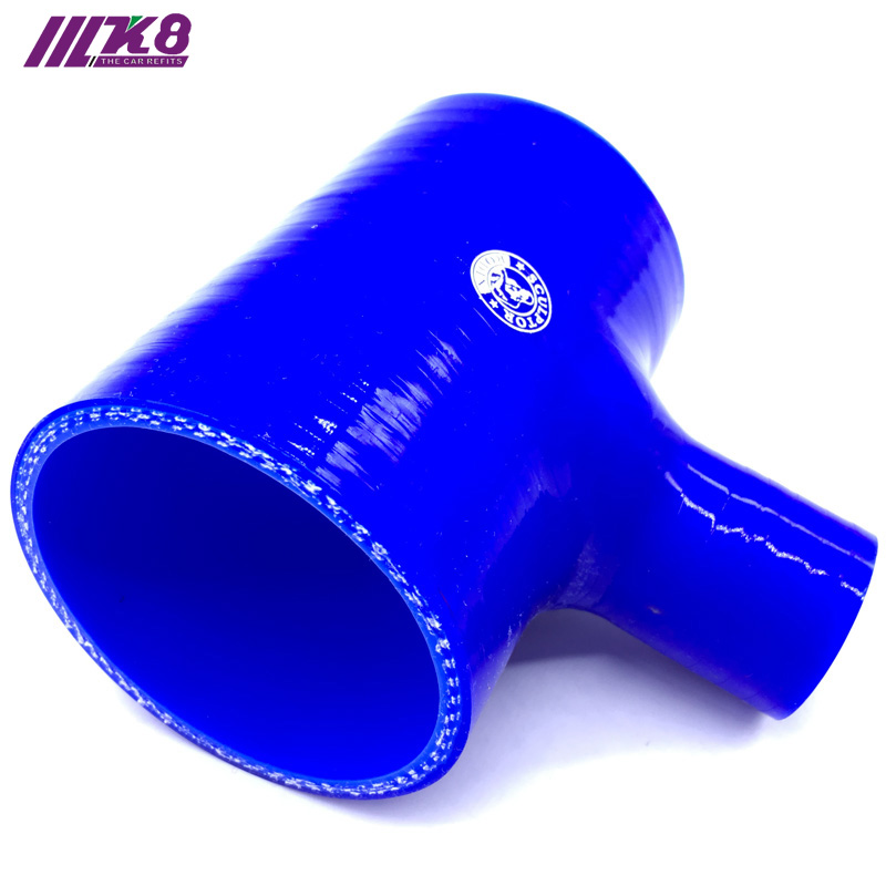 2 2.5 2.75 3 T Piece Silicone Hose 51 63 70 76mm T Shape Tube for 25mm/35mm ID BOV +Clamps image