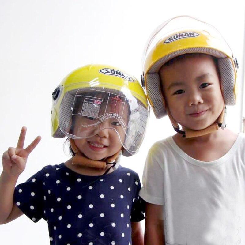 Kids Motorcycle Helmet Children's Riding Helmets Boys girls Motorcycle Cycling Kid Helmet For Outdoor Sports 48-52cm