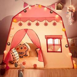 Niños tienda de la tela de Oxford, casa de Juego 3-4 niños de interior Casa de juguete regalo de cumpleaños de las niñas de bebé rosa tienda Carpas Infantiles