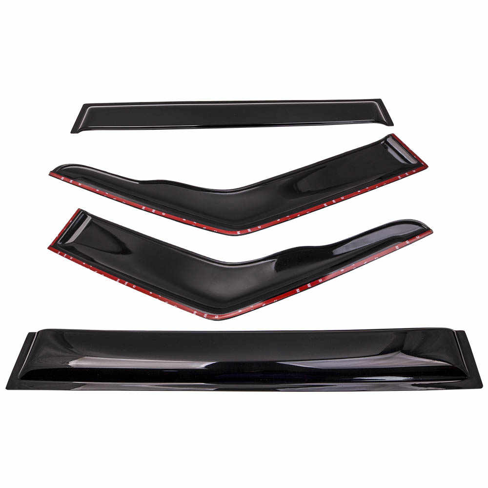 4pcs Weathershield Window Sun Visor for Nissan Patrol GQ Y60 1988-97 Auto mirror