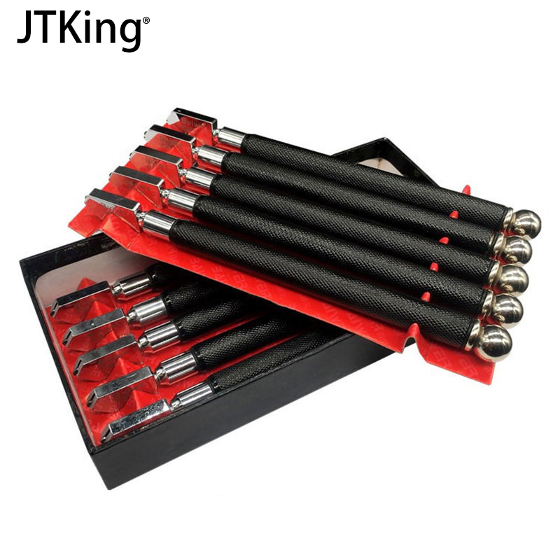JTKing Professional Diamond Glass Cutting Machine Tool Glass Tile Cutting Metal Non-slip Handle 10 Pieces / Box Hand Tools