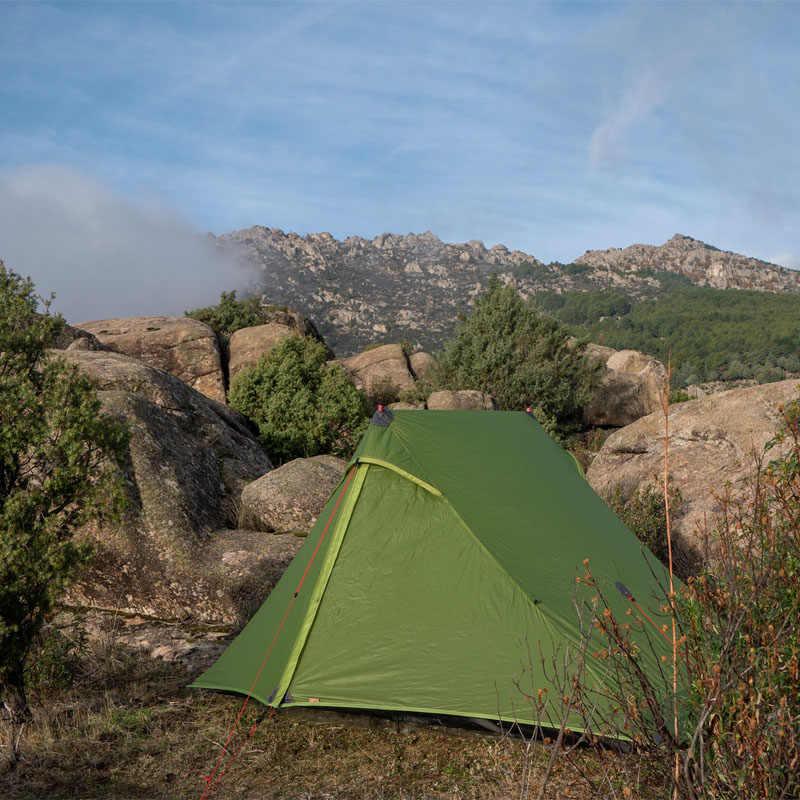 FLAME'S CREED Lanshan 1 Pro 2 Pro เต็นท์กลางแจ้ง 1 คน 2 คน Ultralight Camping เต็นท์ 3 ฤดู 20D Silnylon rodless เต็นท์