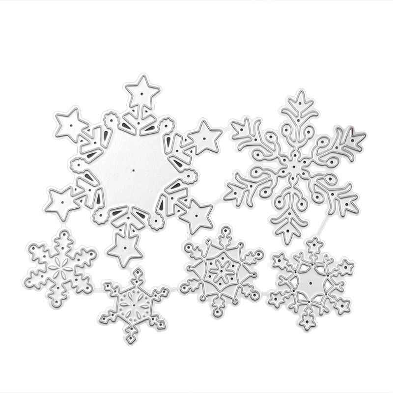 Corte De Metal Morre Stencil DIY Álbum Scrapbooking Selo Do Floco De Neve de natal Cartão de Papel Embossing Craft Decor
