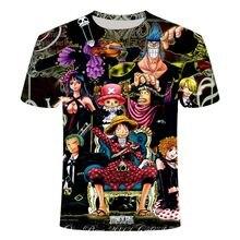 Luffy-Camiseta de una pieza para hombre, camiseta de Hip Hop, ropa informal, 3D Camiseta con estampado, camiseta de verano