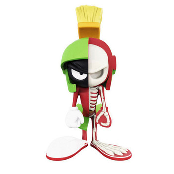 10cm Mighty Jaxx Jason Freeny 4D Master Marvin The Martian Cartoon Dissected Companion Desk Home Decoration Accessories M3387
