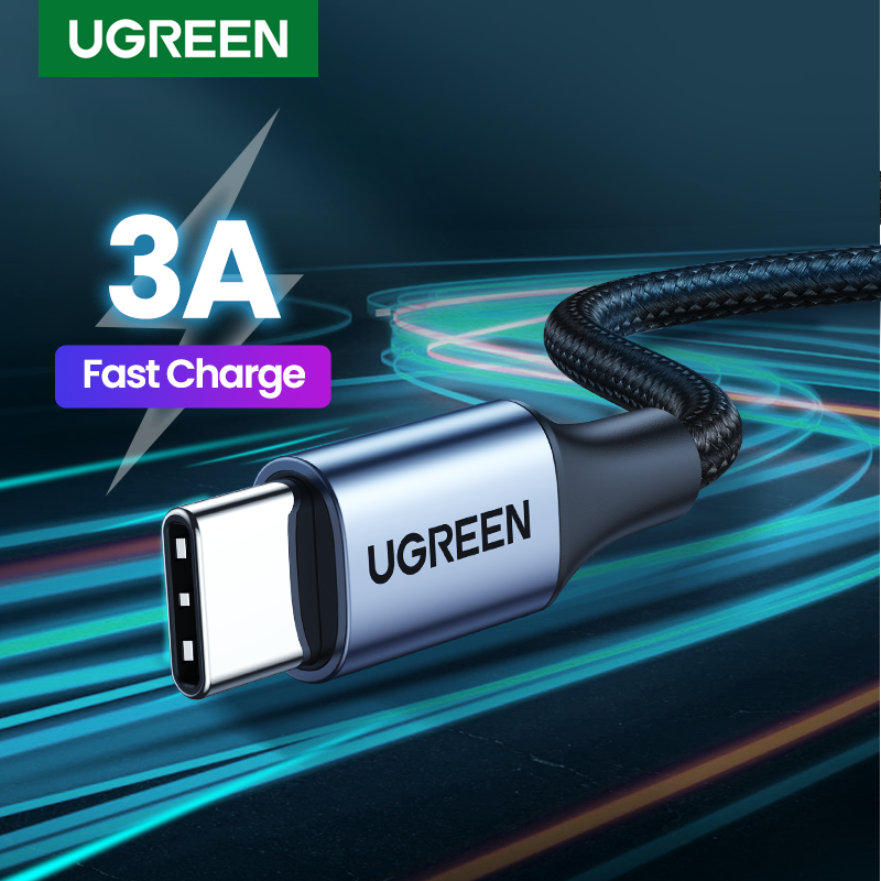 UGREEN USB Type C Cable for Samsung S9 S8 Fast Charge Type C Mobile Phone Charging Wire USB C Cable for Xiaomi mi9 Redmi note 7|Mobile Phone Cables|   - AliExpress
