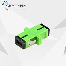 Free Shipping Promotion SC/APC Single Mode Simplex/Duplex Green Fiber Optic Adapter,