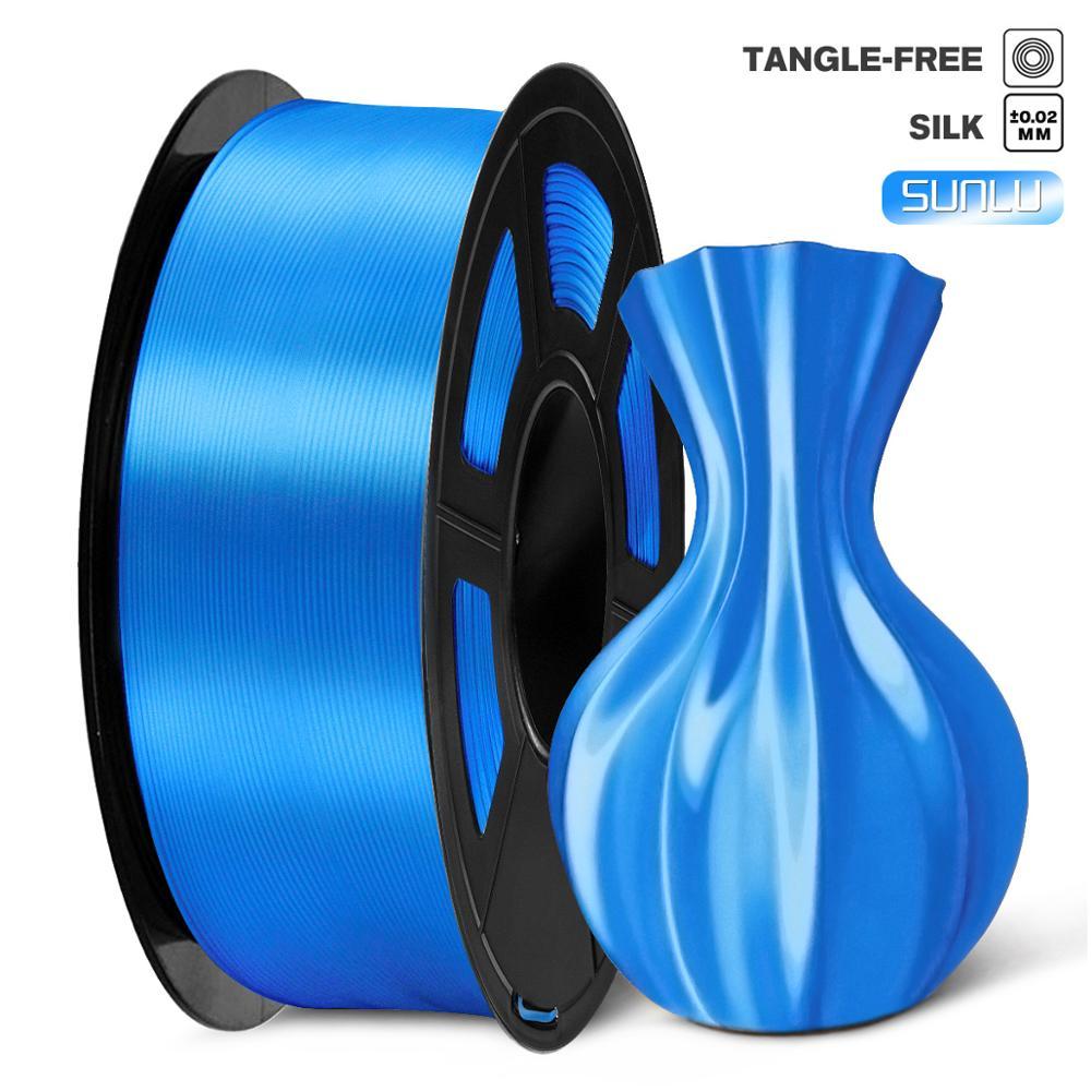PLA Filament Silk 1kg 1.75mm Shiny Color Silk Texture High Toughness Diameter Tolerance 0.02mm FDM 3D Printer Printing Material 1
