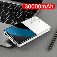 30000 mah banco de potência portátil bateria externa carregamento rápido portátil powerbank carregador de bateria externa para xiaomi telefone 30000 Baterias Externas     -