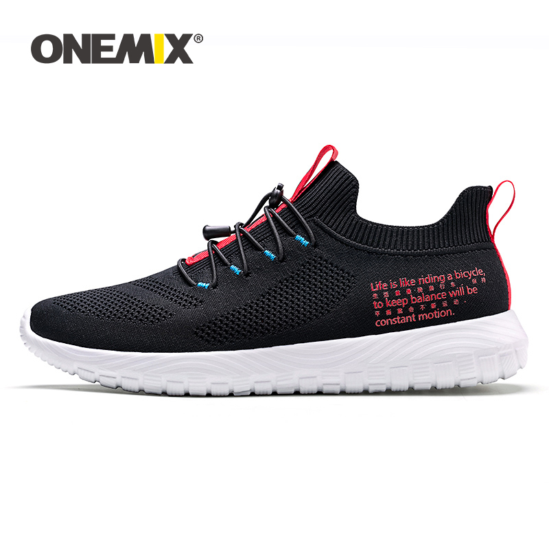 ONEMIX 2019 Men Sneakers Casual Lightweight Outdoor Badminton Shoes Breathable Walking Vulcanized Tennis Shoe Male Big Size 47