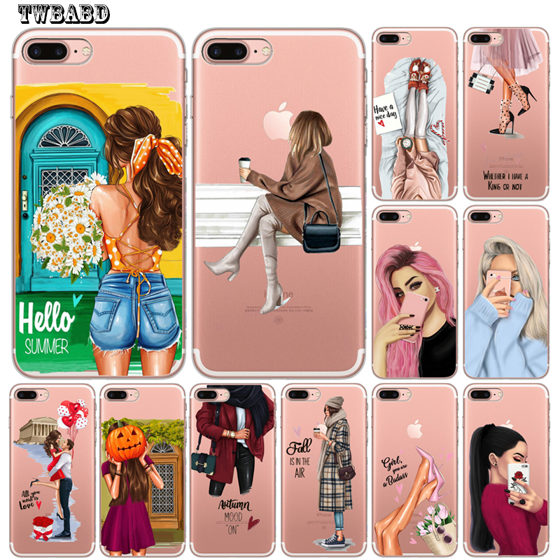 For Funda <font><b>iphone</b></font> 11 Fashion Girl <font><b>Sexy</b></font> Women Phone <font><b>Case</b></font> For Coque <font><b>iphone</b></font> 8 <font><b>7</b></font> X XS Max XR 11 11 Pro Max 6 <font><b>7</b></font> 8 <font><b>Plus</b></font> 5S SE Cover image