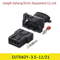 Free shipping 500sets DJ7042Y 3.5 11/21 4Pin AMP Car Electrical Wire Connectors for VW,BMW,Audi,Toyota,NISSAN