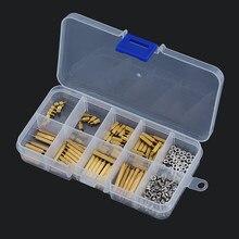 270PCS/BOX M2 Brass Hex Standoff Nut Spacing Screw Assortment Set Threaded Hollow Pillar PCB Motherboard Spacer M2*L+3mm