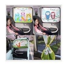 Sunshade Window Car Thermal-Curtain Car-Side Retractable Kids Summer Cartoon
