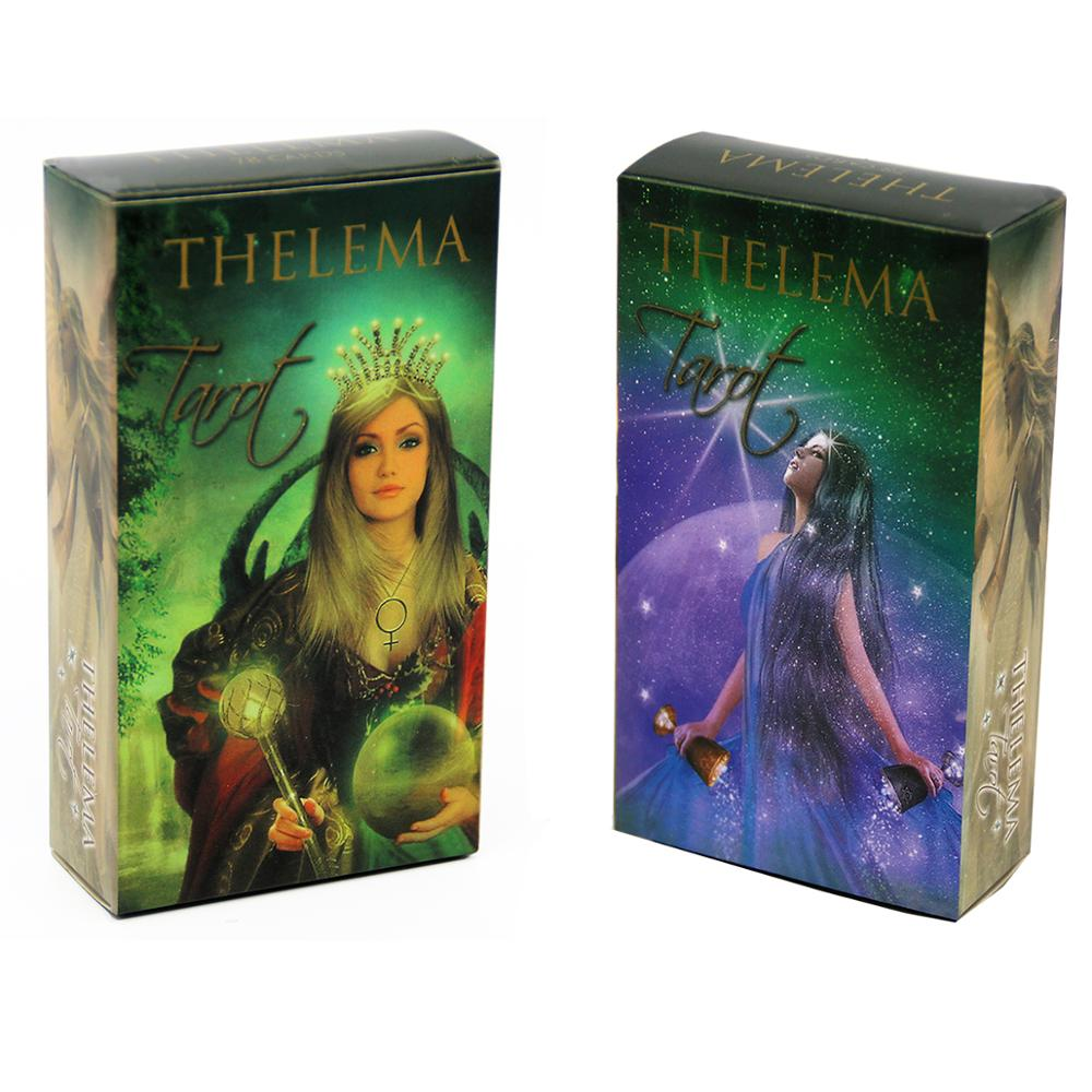 Thelema Tarot Cards Lo Scarabeo Decks Five Languages English Spanish French Italian German Beginners And Tarot Adepts Alike Game