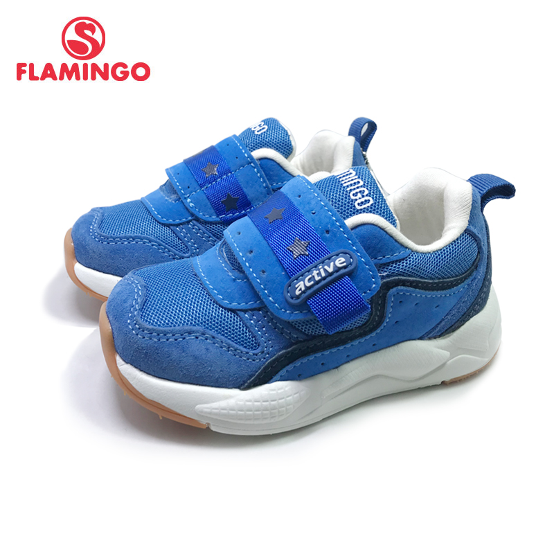 FLAMINGO Spring Sport Running Children Shoes Hook&Loop Outdoor  Sneaker For Kids Size 22-27 Free Shipping 201K-SM-1596