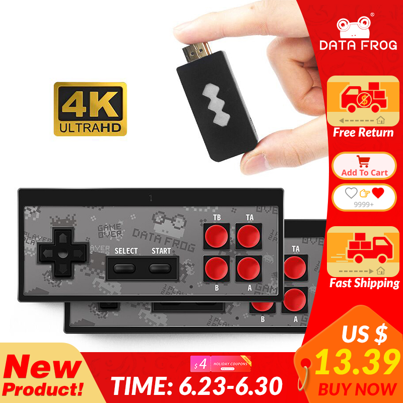 DATA FROG 4K HDMI Video Game Console Built in 568 Classic Games Mini Retro Console Wireless Controller HDMI Output Dual Players(China)