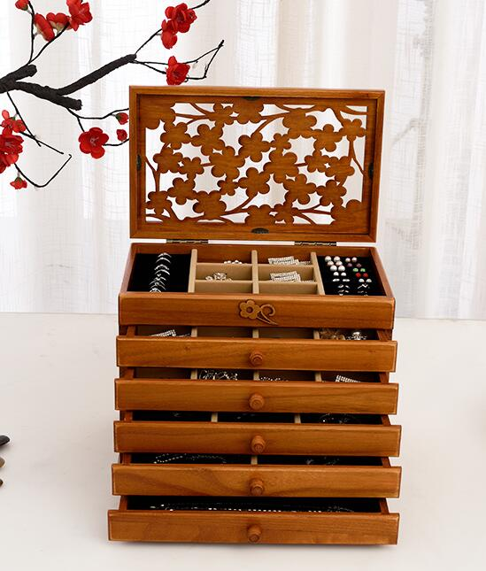 Solid wood wooden box makeup Storage