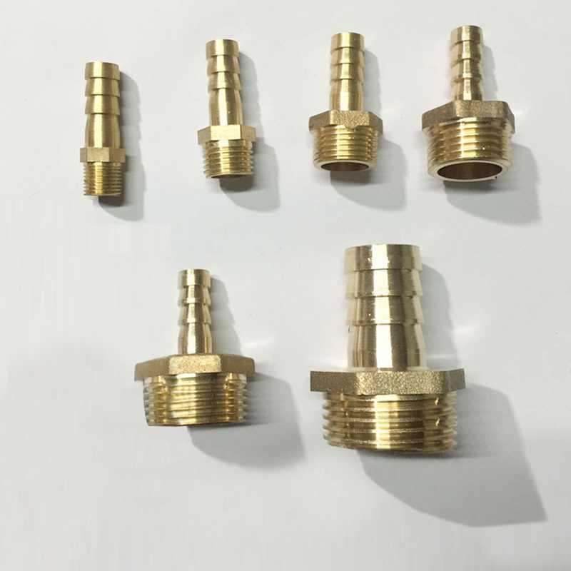 """6mm 8mm 10mm mosiężna rura miedziana złącza 1/8 """"1/4"""" 1/2 """"wąż dopasowujący końcówka z króćcem BSP złączka męska Adapter wąż gazowy wspólne"""