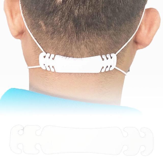 100Pcs Adjustable Face Mask Ear Hook Extension Buckle Earache Prevent Fixer Ear Strap Extension Disposable Mask Anti Lock Buckle