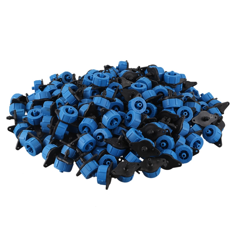400 Pcs 8L Pressure Compensating Dripper Irrigation Misting Micro-Flow Dripper Automatic Watering Nozzle Drip Garden Sprinklers