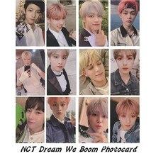 NCT Dream We Boom Autograph Photocard Chenle Haechan Paper Photo Card Photographt Kpop Collective Cards 6pcs/se