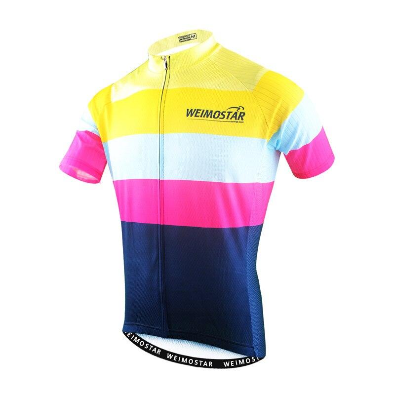 Weimostar 2020 Pro equipo ciclismo Jersey hombres verano ropa de bicicleta de manga corta carretera MTB bicicleta camiseta ciclismo de carreras