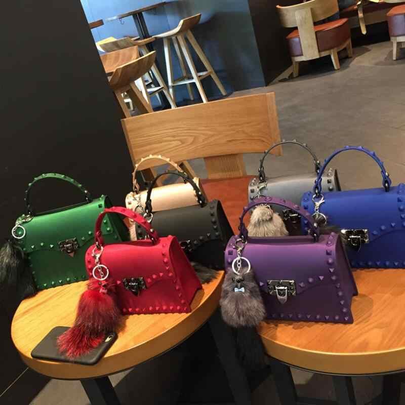 2020 แฟชั่นผู้หญิง Messenger กระเป๋าคุณภาพสูง PVC Jelly กระเป๋าไหล่ Crossbody กระเป๋าผู้หญิงหนังกระเป๋าถือสีเหลือง