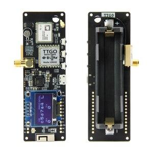 TTGO Т-образной балки ESP32 923/433/868/915 МГц Wi-Fi Беспроводной Bluetooth модуль ESP 32 GPS NEO-6M SMA LORA 32 18650 Батарея держатель с органическим светодиодом