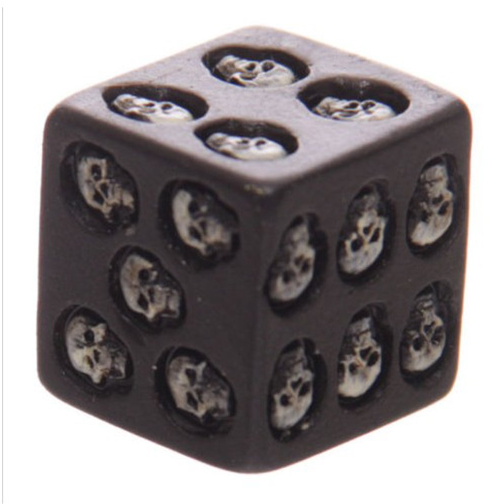 5pcs 6 Sided Resin Dice - Gothic Style With Skull Pips - Perfect For Tabletop Wargames And RPGs MTG TRPG Roleplaying Games