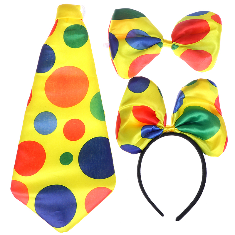 1PCS Party Favor Funny Big Polka Dot Bowtie Clown Tie Necktie For Adults Cosplay Performance Props Christmas Decorations