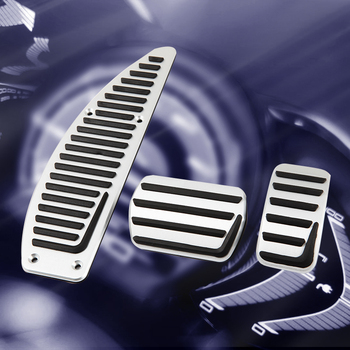 Cubierta de Pedal de freno reposapiés de acelerador de Gas para Volvo V40 S40 C30 accesorios de coche de aleación de aluminio