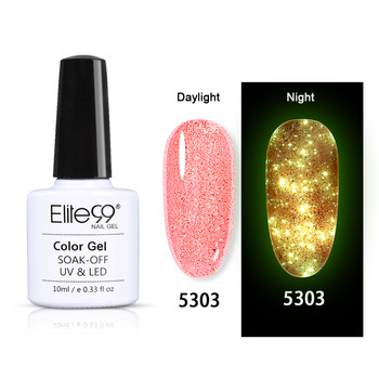 Elite99 Luminous Rose Gold Gel Polnischen Schimmer Glitter Glow In The Dark Nail art Gel Lack Emaille Semi Permanent UV nagellack