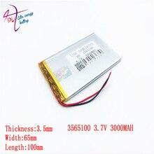 Размеры 3565100 3365100 3,7 v 3000mah литий-полимерный Батарея с доской для 7-дюймовый планшетный ПК литр энергии