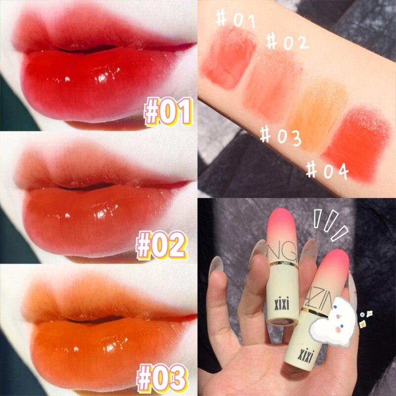 4 farben Candy Lippenstift Pfirsich Mädchen Lippenstift Lang Anhaltende Feuchtigkeitsspendende Nicht Einfach zu Verblassen Make-Up Gelee Lippenstift Lip Make-Up TSLM1