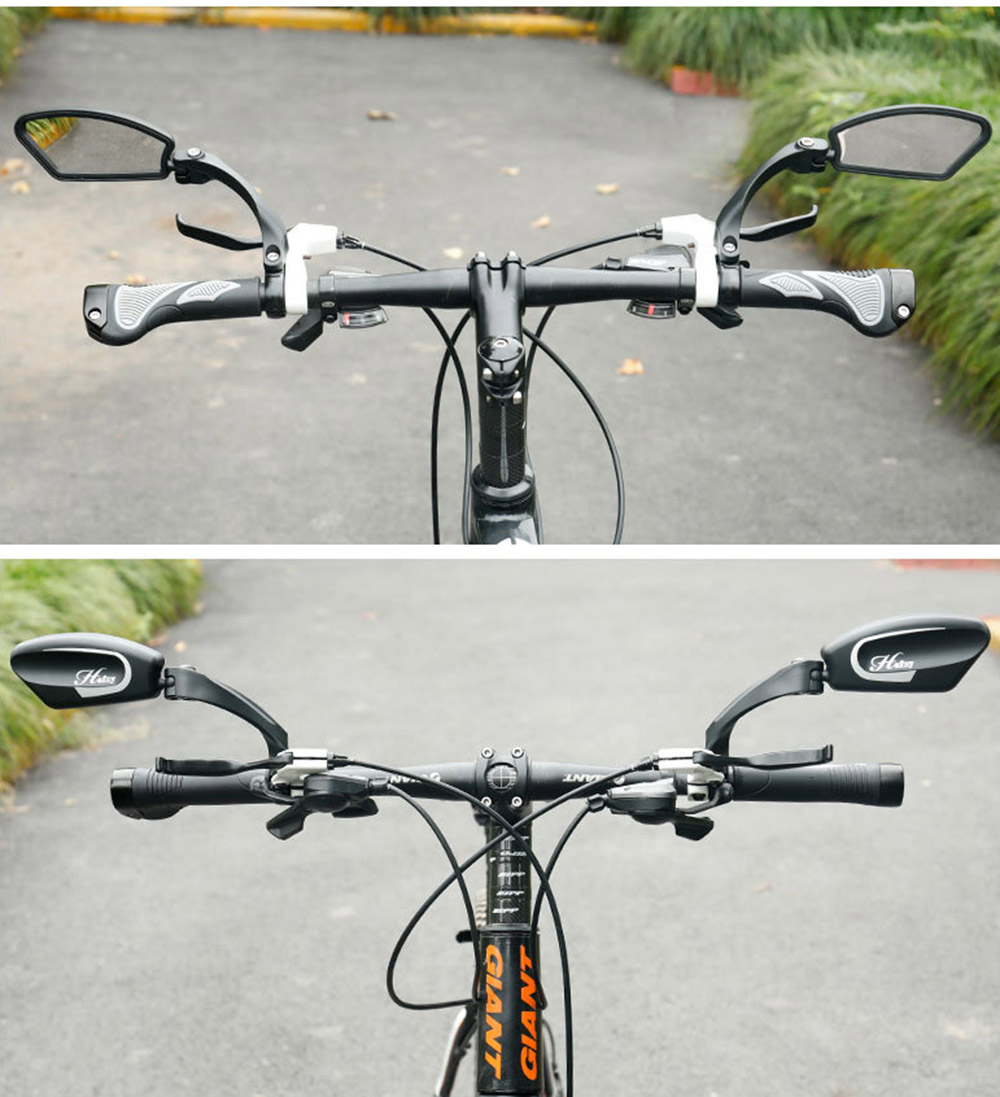 Bicycle Mirror 360 Degree Rotate MTB Road Bike Rearview Handlebar Mount Flexible Safety Cycling Back Mirror Folded Blind BC0124 (6)