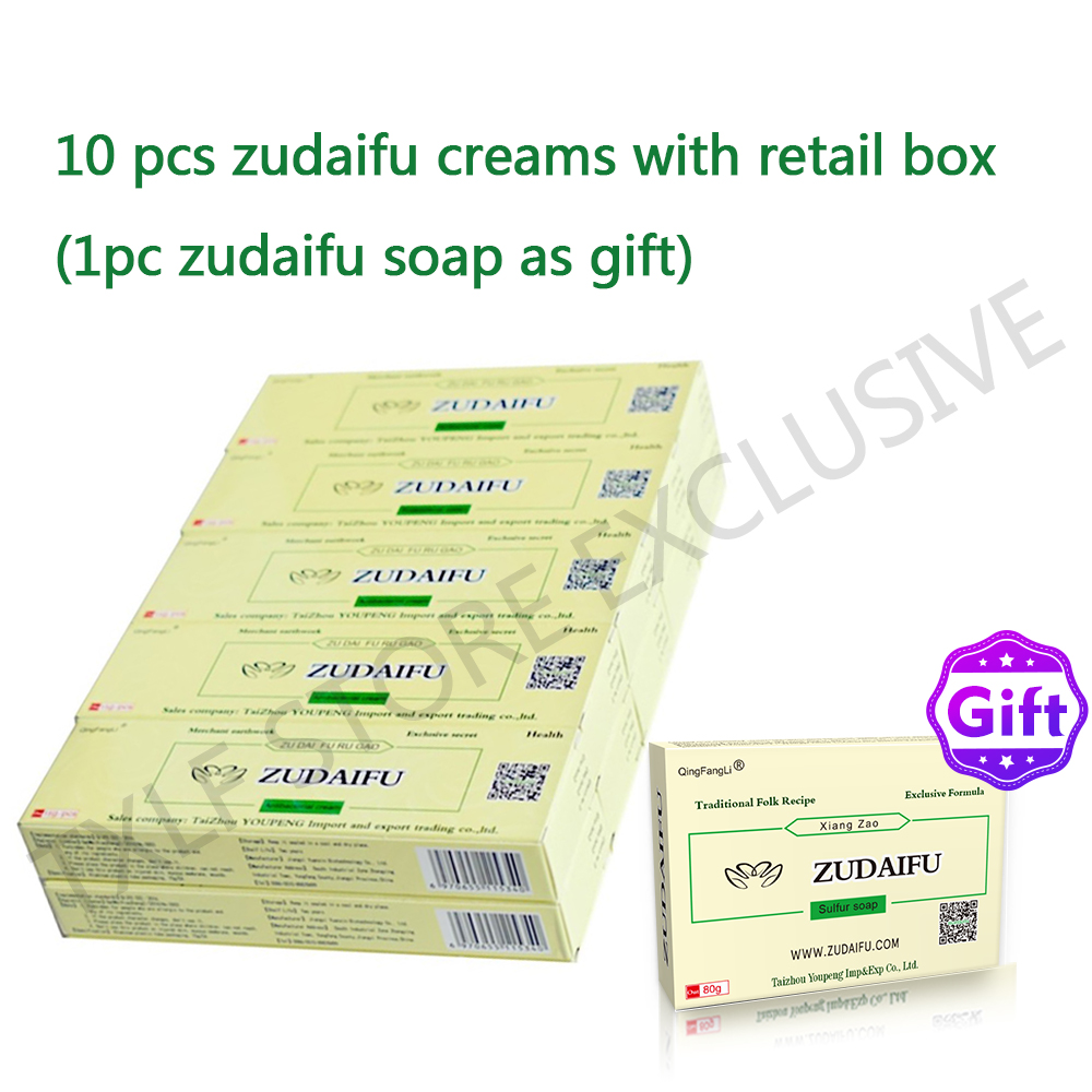 10pcs/lot(with Box) ZUDAIFU Natural Skin Creams Eczema Ointments Psoriasis Eczema Allergic Neurodermatitis