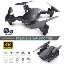 Klapp Drone 4k HD Weitwinkel Kamera Dual Kamera RC Quadcopter 1080 P/4 K WiFi FPV Drohnen flug 20 Minuten Ein-Taste Nehmen-Off
