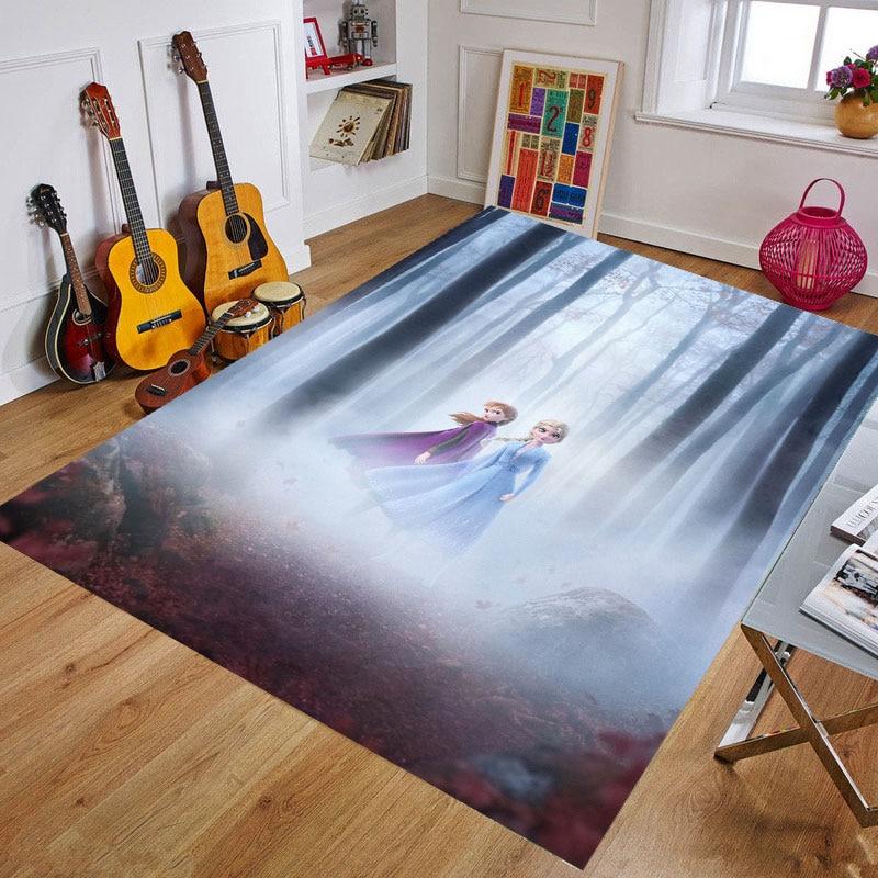 Frozen Playmat Baby DoorMat Kids Rug Game Mat Carpet Bedroom Kitchen Carpet Indoor Bathroom Mat Children Crawling Mat Gift