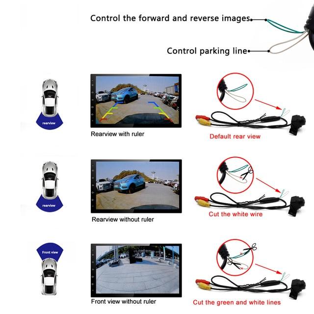 Fisheye 1080p lens starlight night vision vehicle front / rear view camera car reverse camera