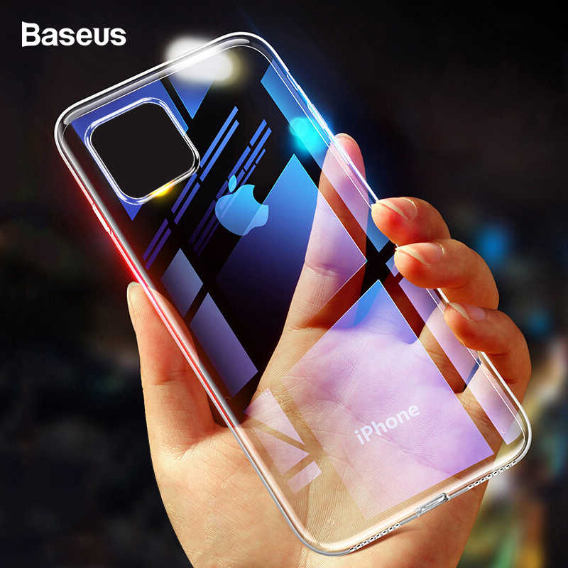 Baseus Case Voor iPhone 11 Pro Max Coque Ultra Dunne Zachte TPU Transparant Clear Silicone Cover Voor iPhone Xs max XR Capin
