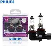 """פיליפס 9006 HB4 VisionPlus 12V 55W P22d הלוגן רכב פנס סמנכ""""ל + 60% יותר בהיר אור אוטומטי מנורה מקורי הנורה 9006VPS2, 2X"""