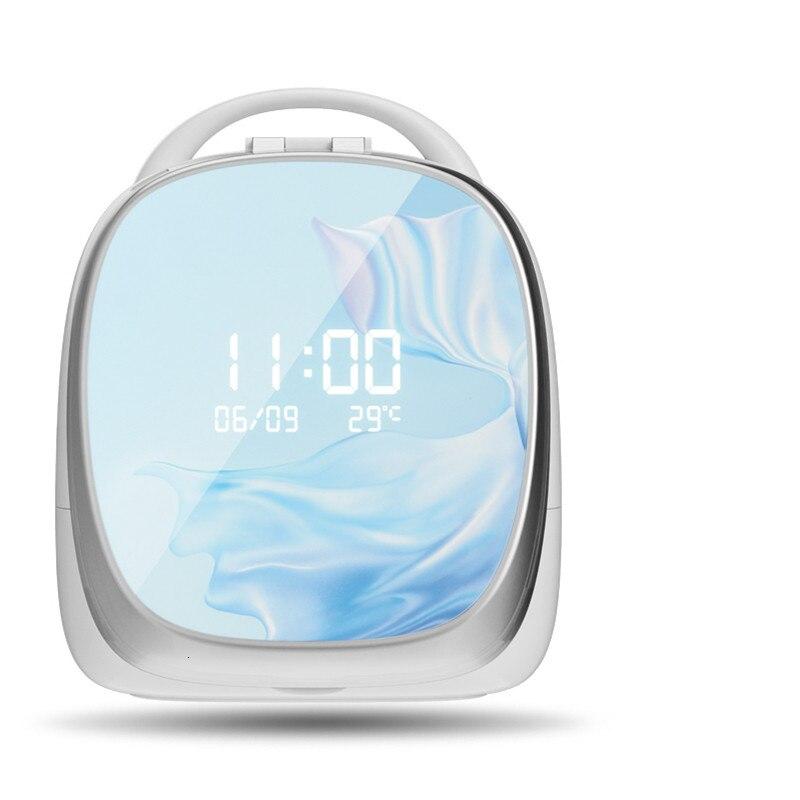 Intelligente Ad Alta end Scatola di Immagazzinaggio Cosmetici Nordic LED Specchio Specchio Per Il Trucco Dell'organizzatore del Cassetto di Casa Rossetto Supporto di Spazzola Cura Della Pelle Gioielli cremagliera - 4