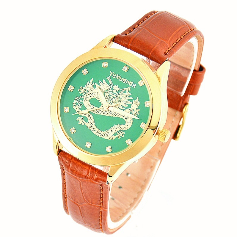 sell gifts, jade watch, genuine leather strap and Tian Qingyu watch, quartz men's and women's manufacturers, from stock