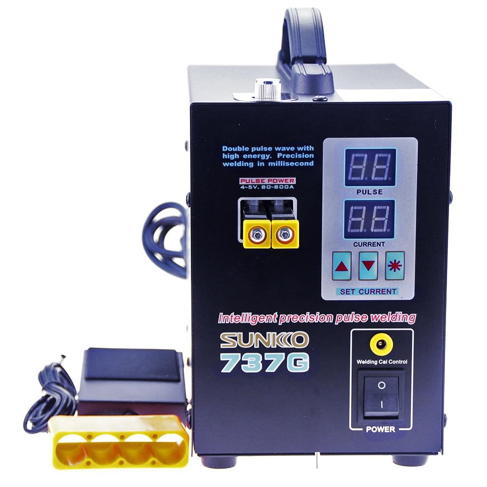Spot Welder 1 5kw LED Dual Digital Display Pulse Precision Spot Welding Of Fixed Push Welding Joint For 18650 SUNKKO 737G