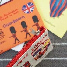 20 pièces/lot vintage jaime londres série sac à crayons étui à crayons trousse de bureau fournitures scolaires