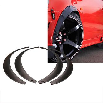 4Pcs/Set Universal Flexible Car Fender Flare Wheel Arch Protector Widened Decorative Wheel Eyebrow Fender For SUV Off-road image